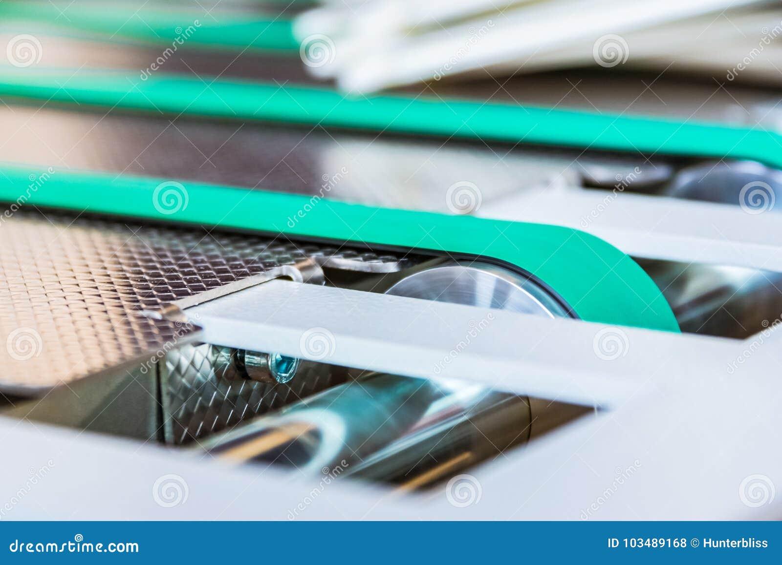 Papierowej falcowanie konwejeru paska Maszynowej gumy linii Cienka zieleń Whee