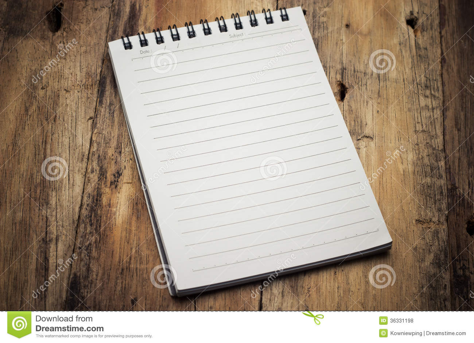 Papierowy strona notatnik