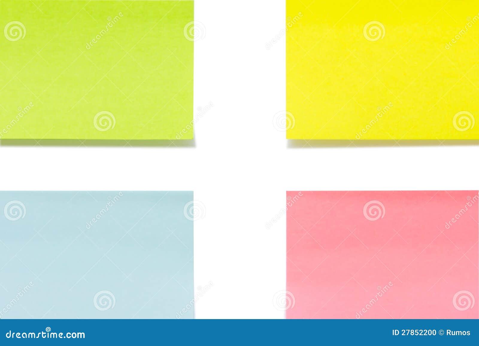 Papierowy zbliżenie kleiści kolorów prześcieradła