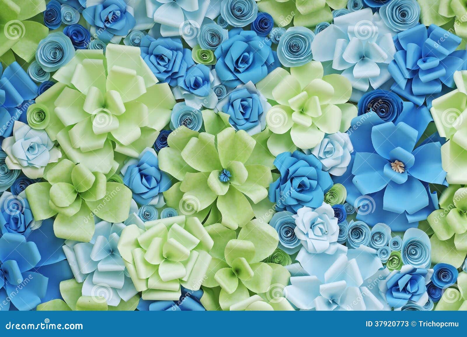 Papierowych kwiatów tło