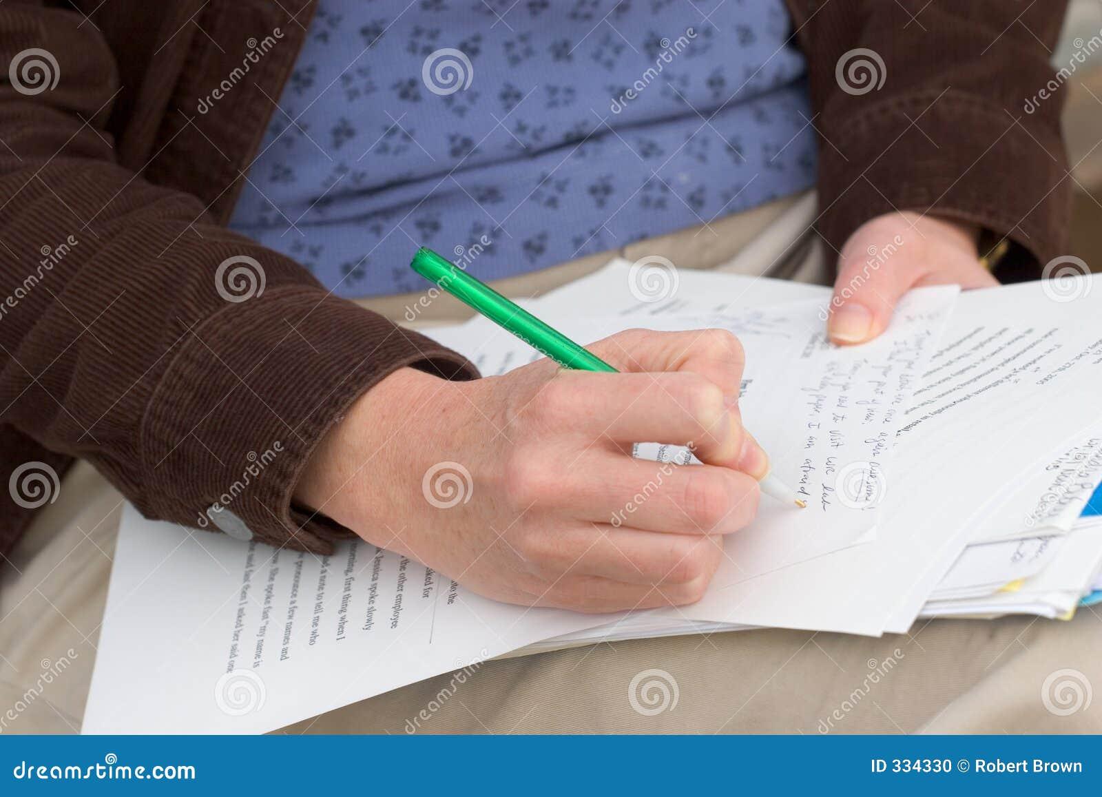 Papiers de évaluation de femme