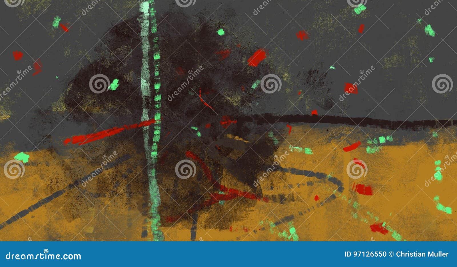 Papiers mobiles de partie d illustration de fond de festivité dans la peinture numérique d air