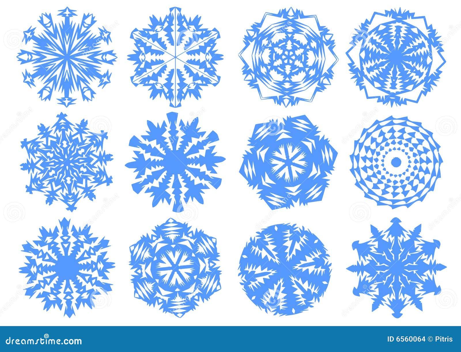 Papierschneeflocken Vektor Abbildung Illustration Von Hintergrund