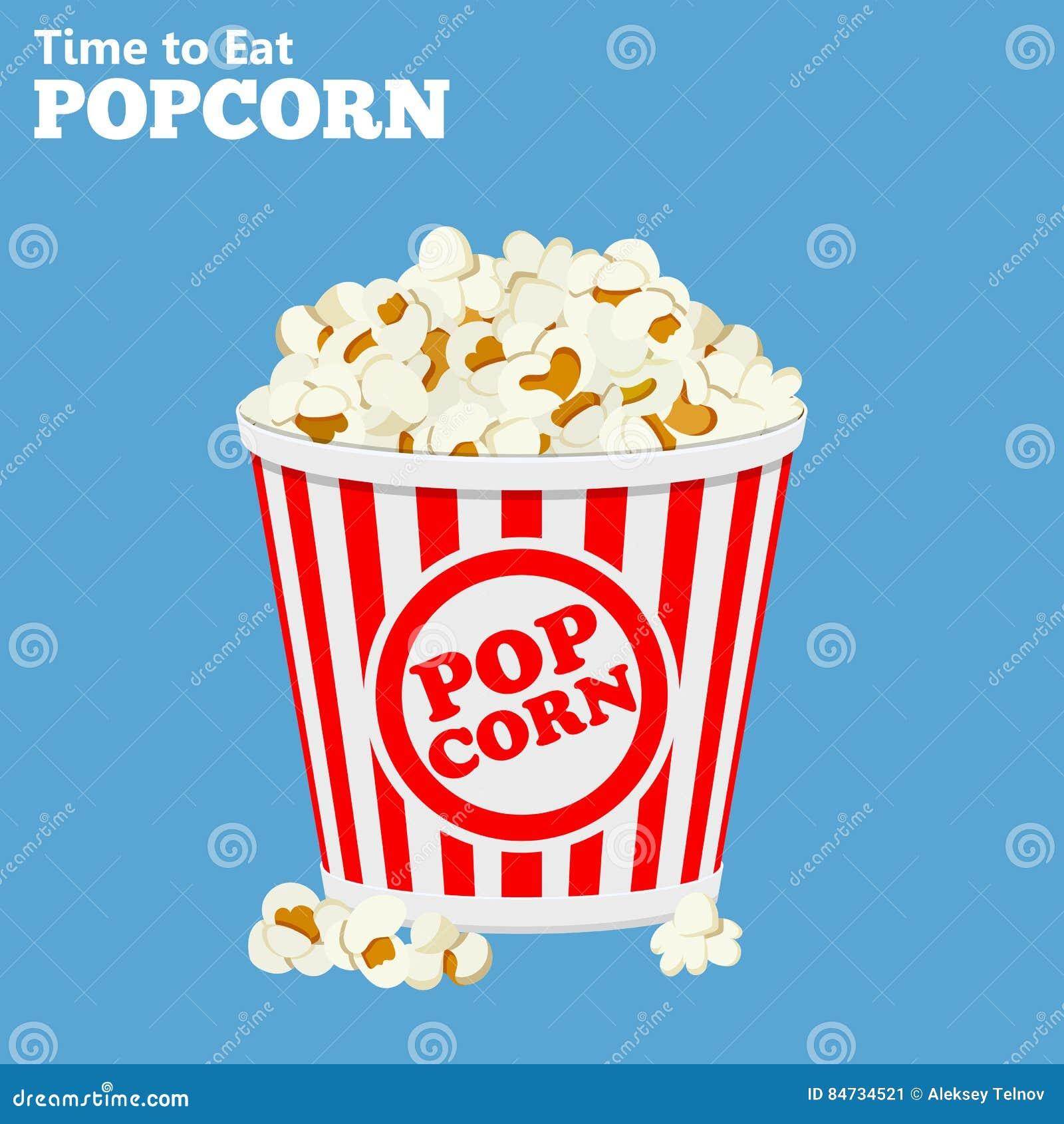 Papiertüte voll Popcorn