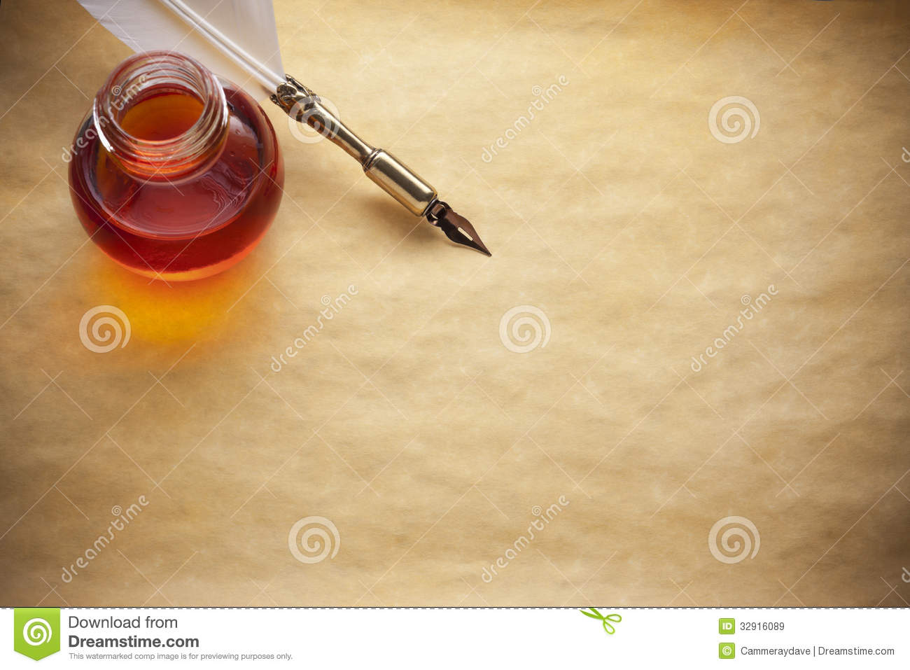 Papiertinte Quill Pen Background