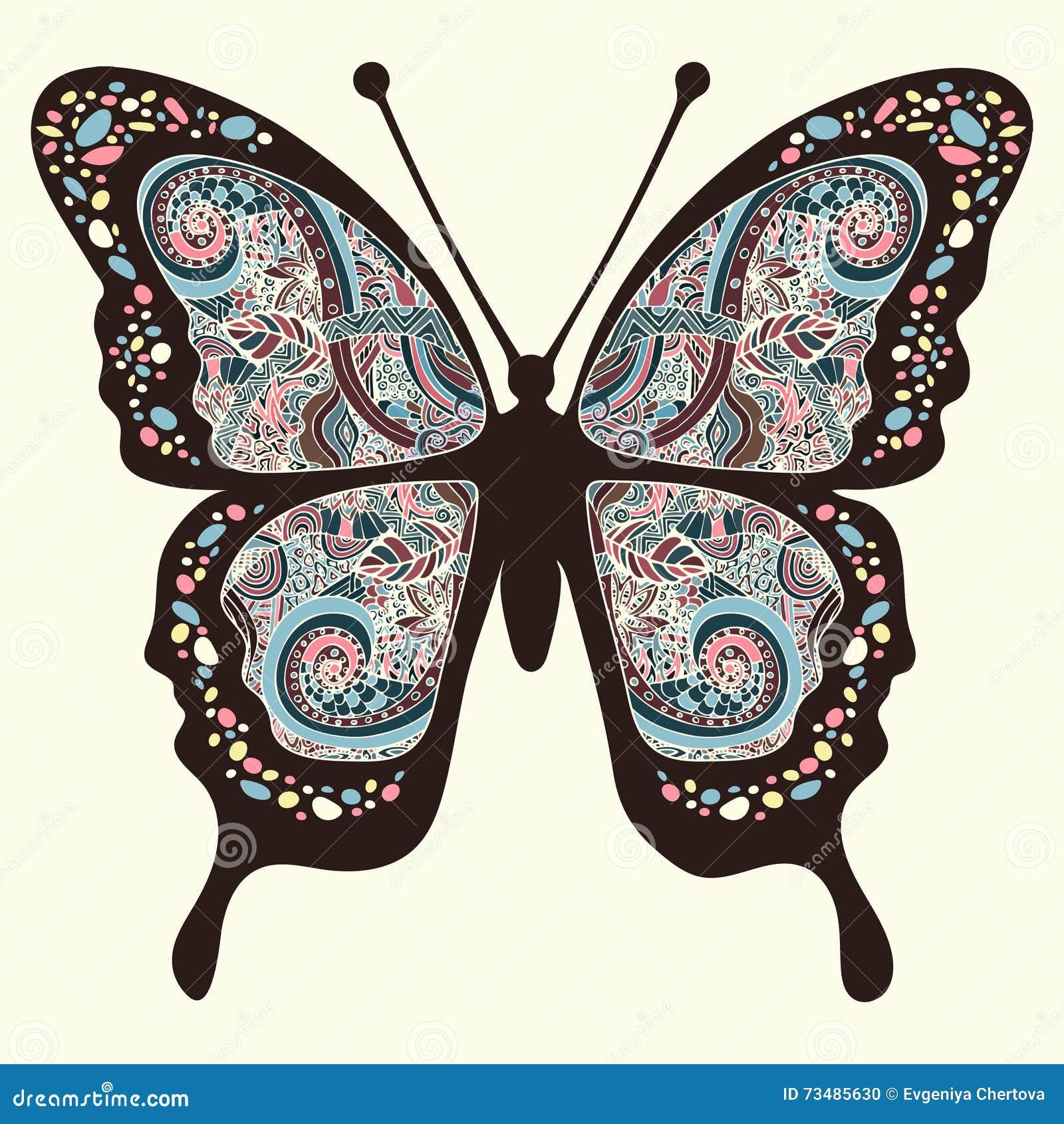 papillon avec des mod les s 39 envole oriental multicolore. Black Bedroom Furniture Sets. Home Design Ideas