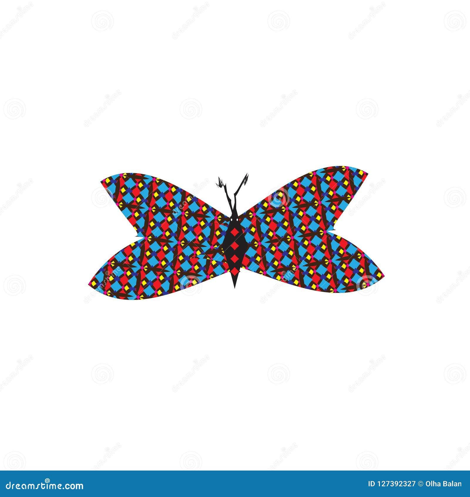 Papillon coloré mignon