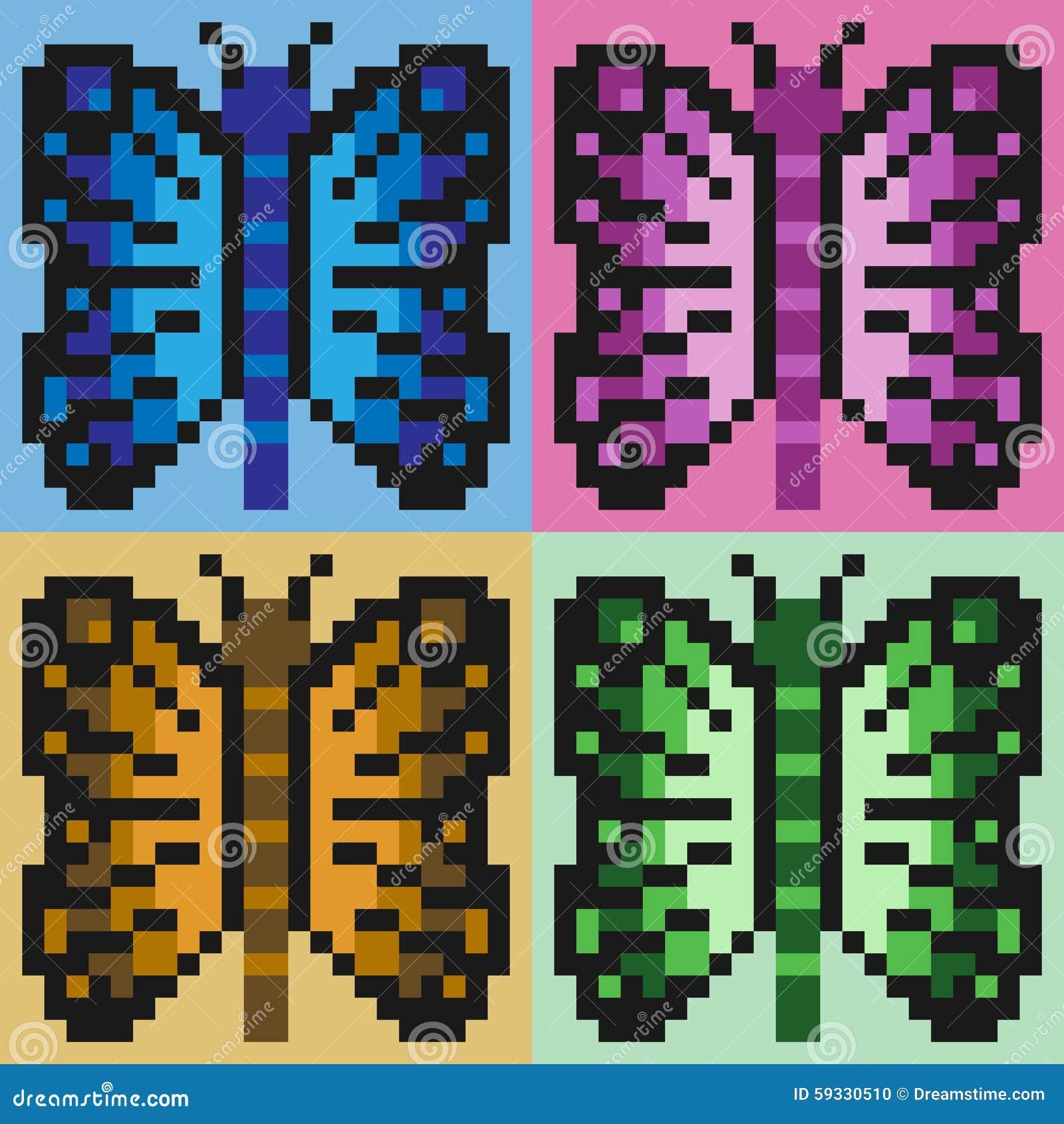 Papillon Dart De Pixel Dillustration Illustration De