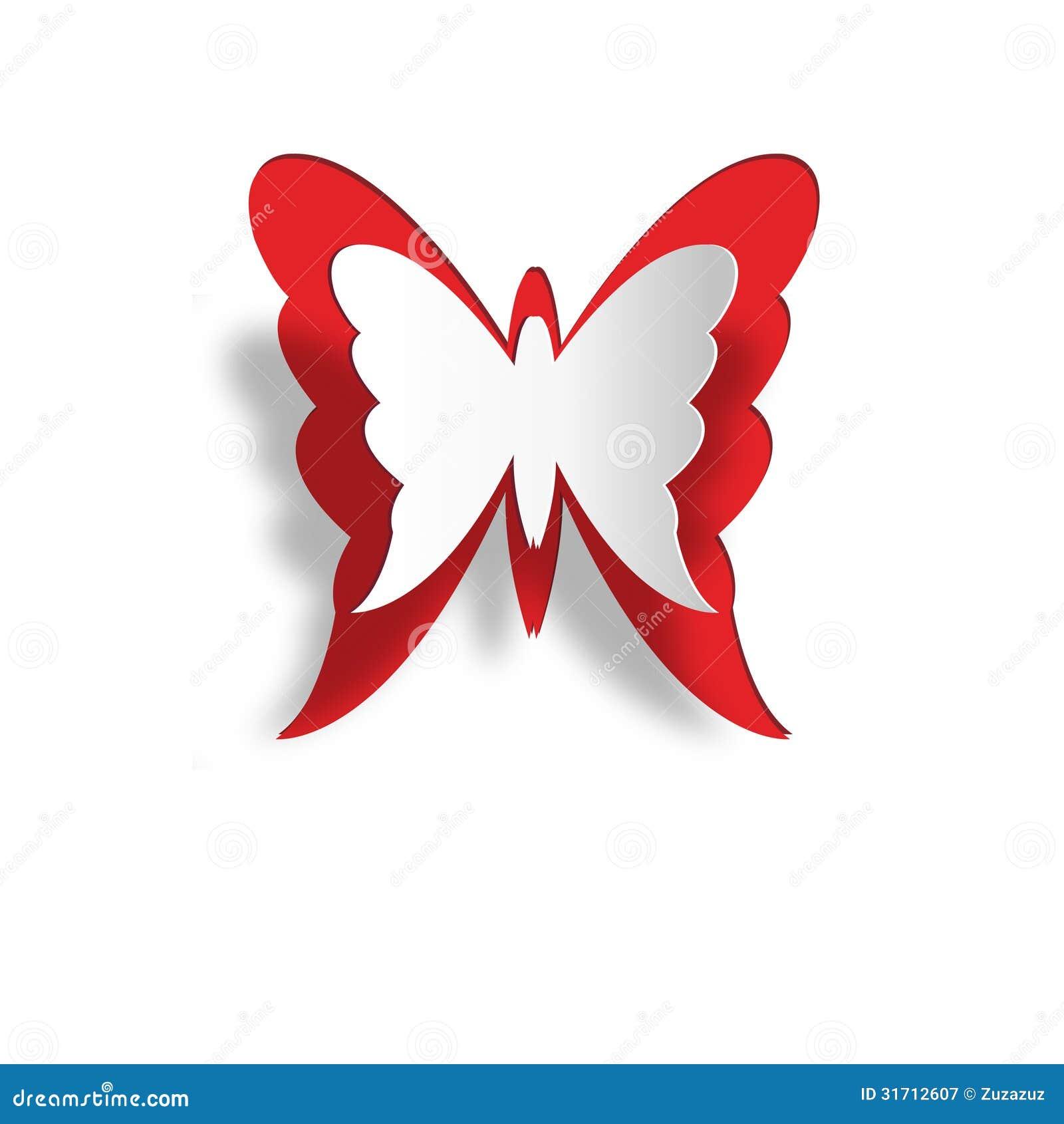 papillon de papier photographie stock libre de droits. Black Bedroom Furniture Sets. Home Design Ideas