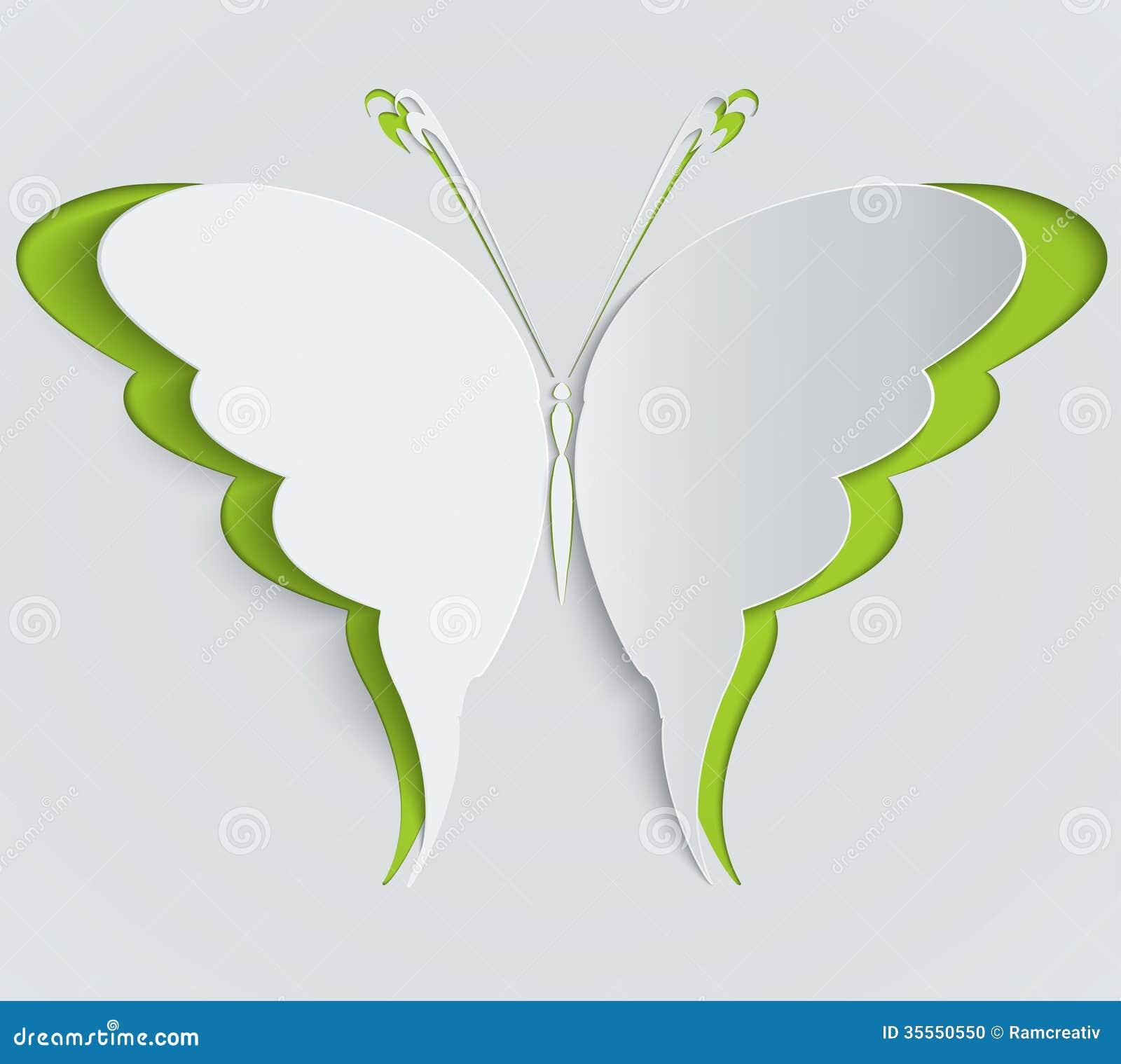 papillon de papier d coration carte de voeux photo stock image 35550550. Black Bedroom Furniture Sets. Home Design Ideas