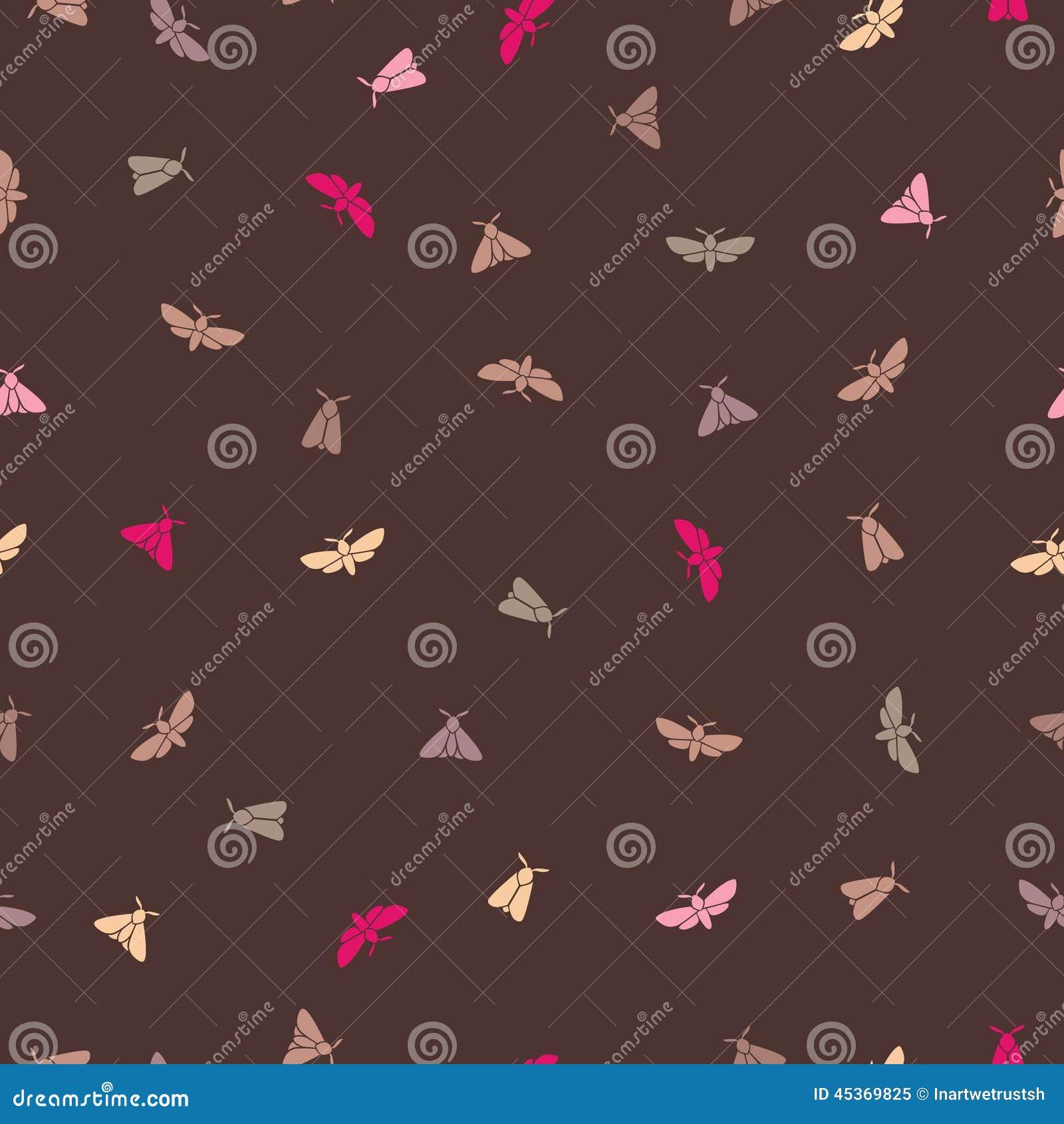 Papillons sur le modèle sans couture de fond brun