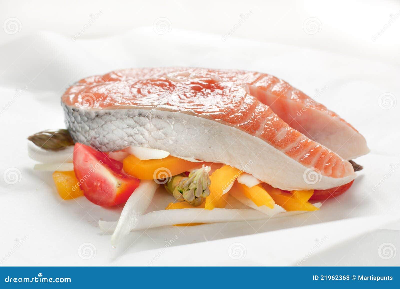 Papillote三文鱼蔬菜
