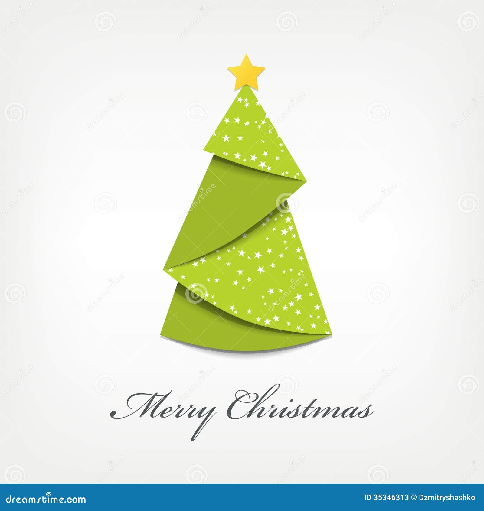 Papiroflexia del rbol de navidad ilustraci n del vector - Arbol de navidad de origami ...