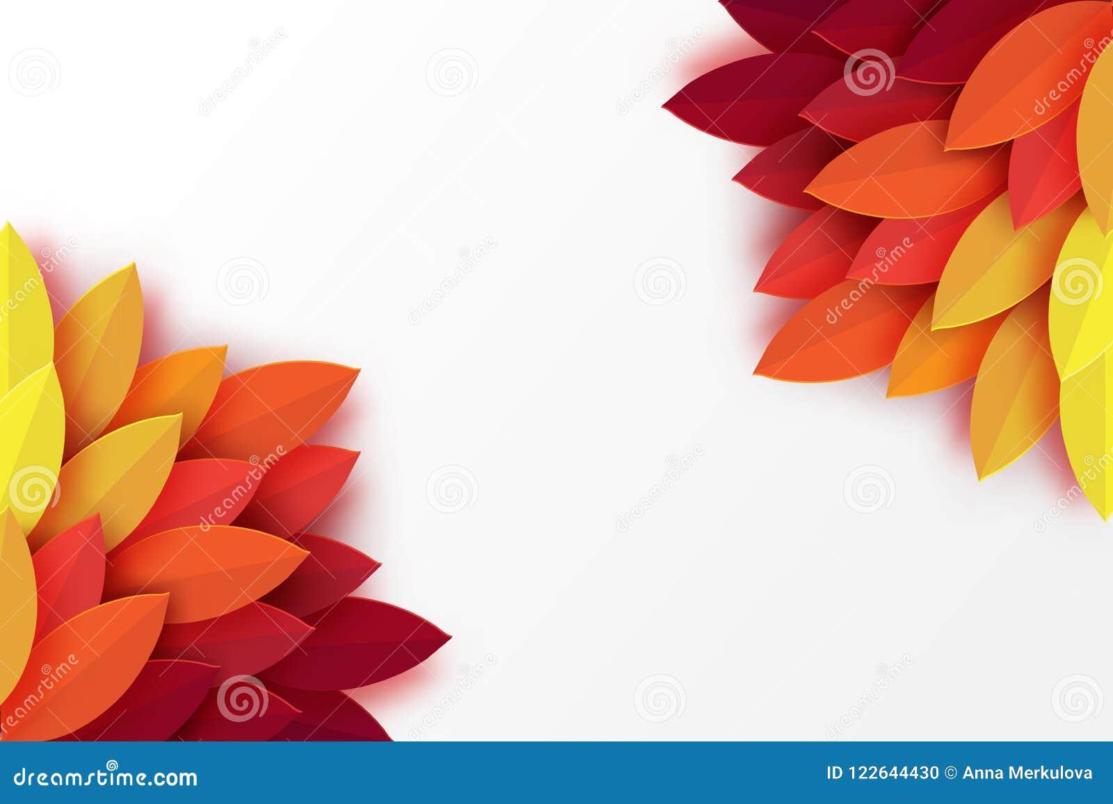 Pappers- färgrik bakgrund för höstsidor Moderiktigt origamipapperssnitt