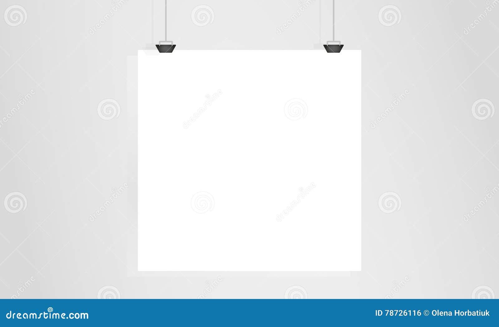 Pappers- hänga på väggen