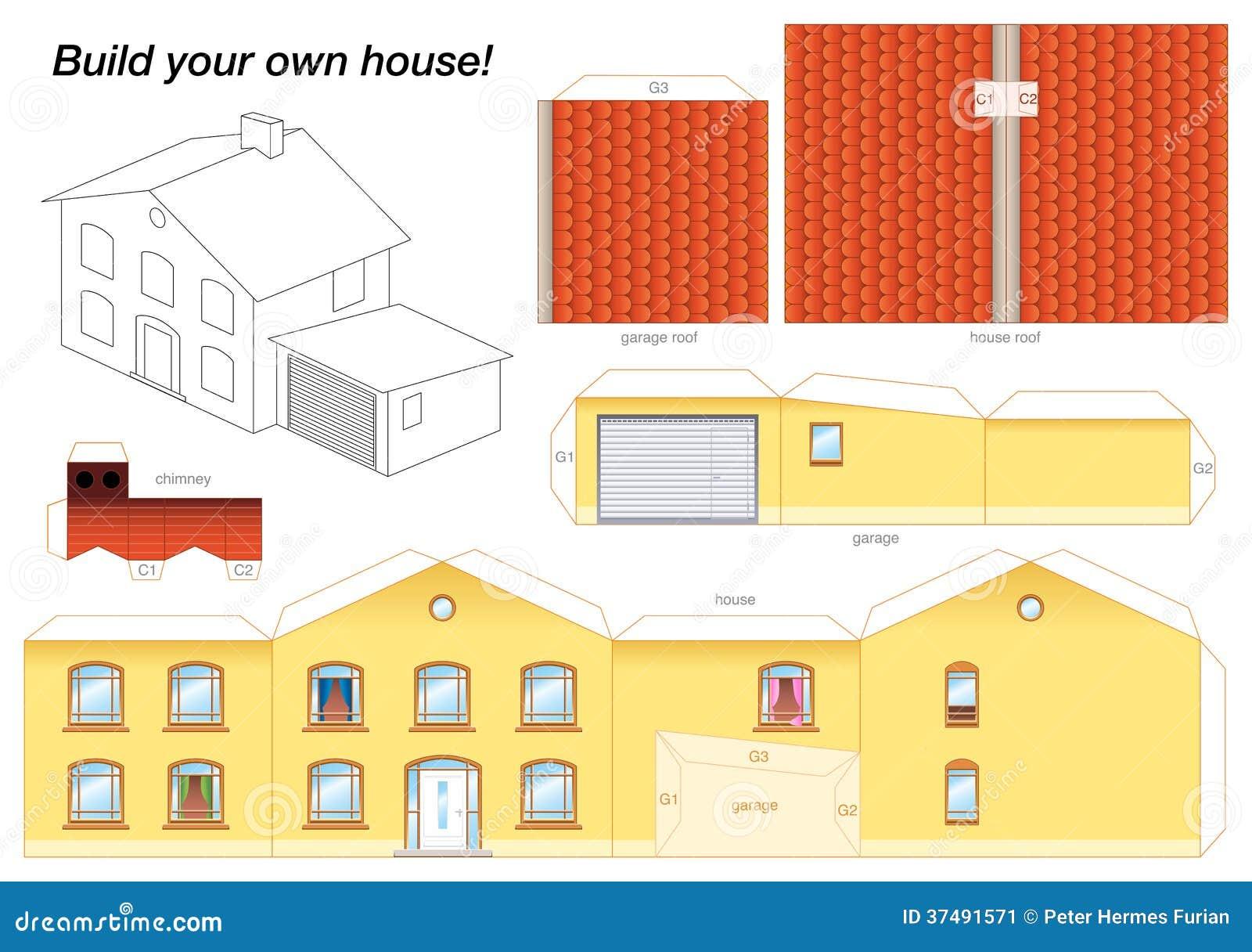 Макет многоэтажного дома из бумаги своими руками схемы
