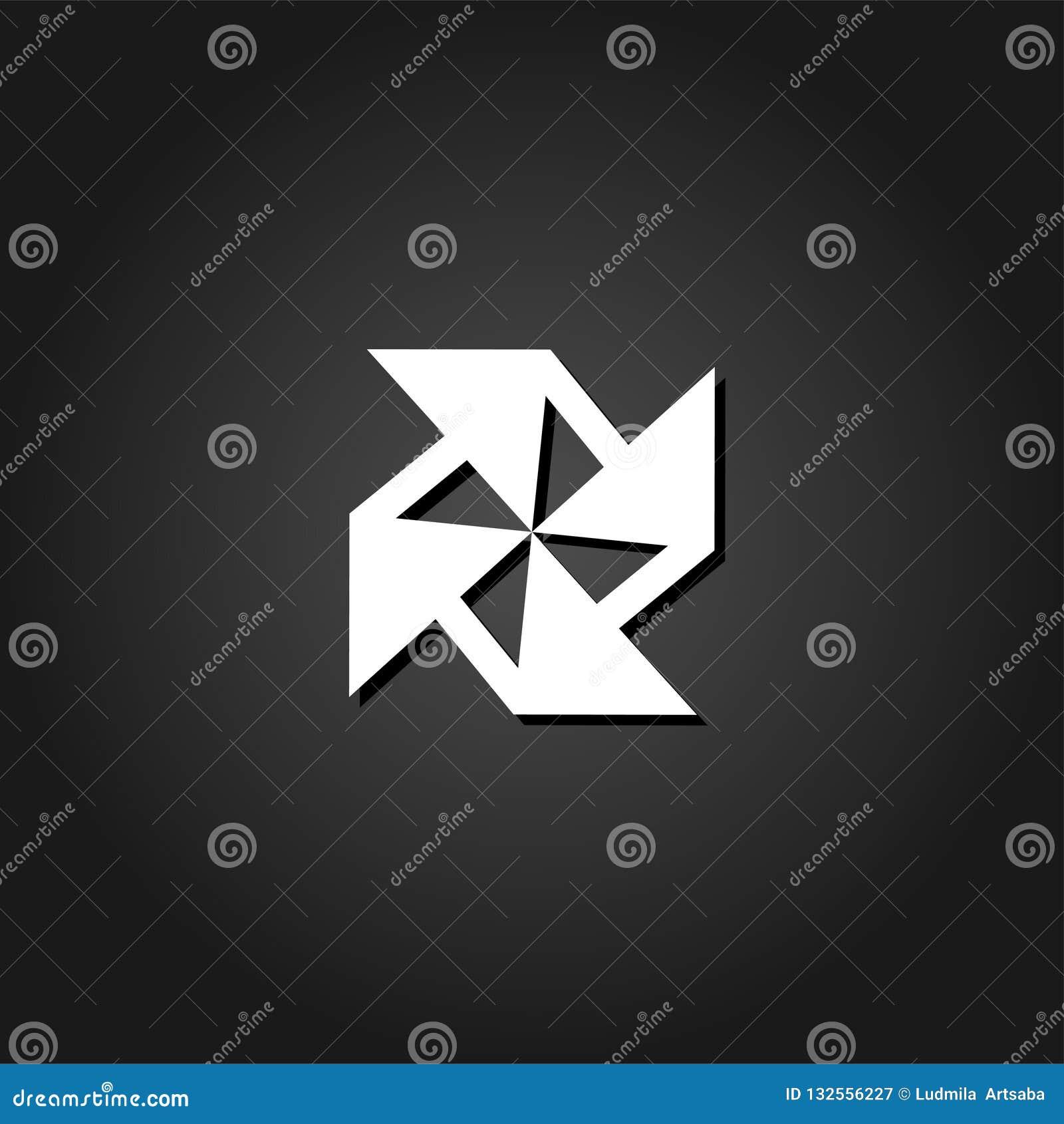 Pappers- väderkvarnsymbol framlänges