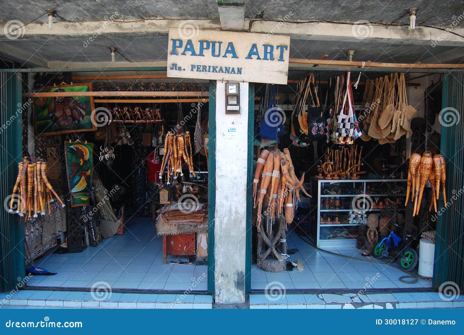 Papua art gift shop Jayapura