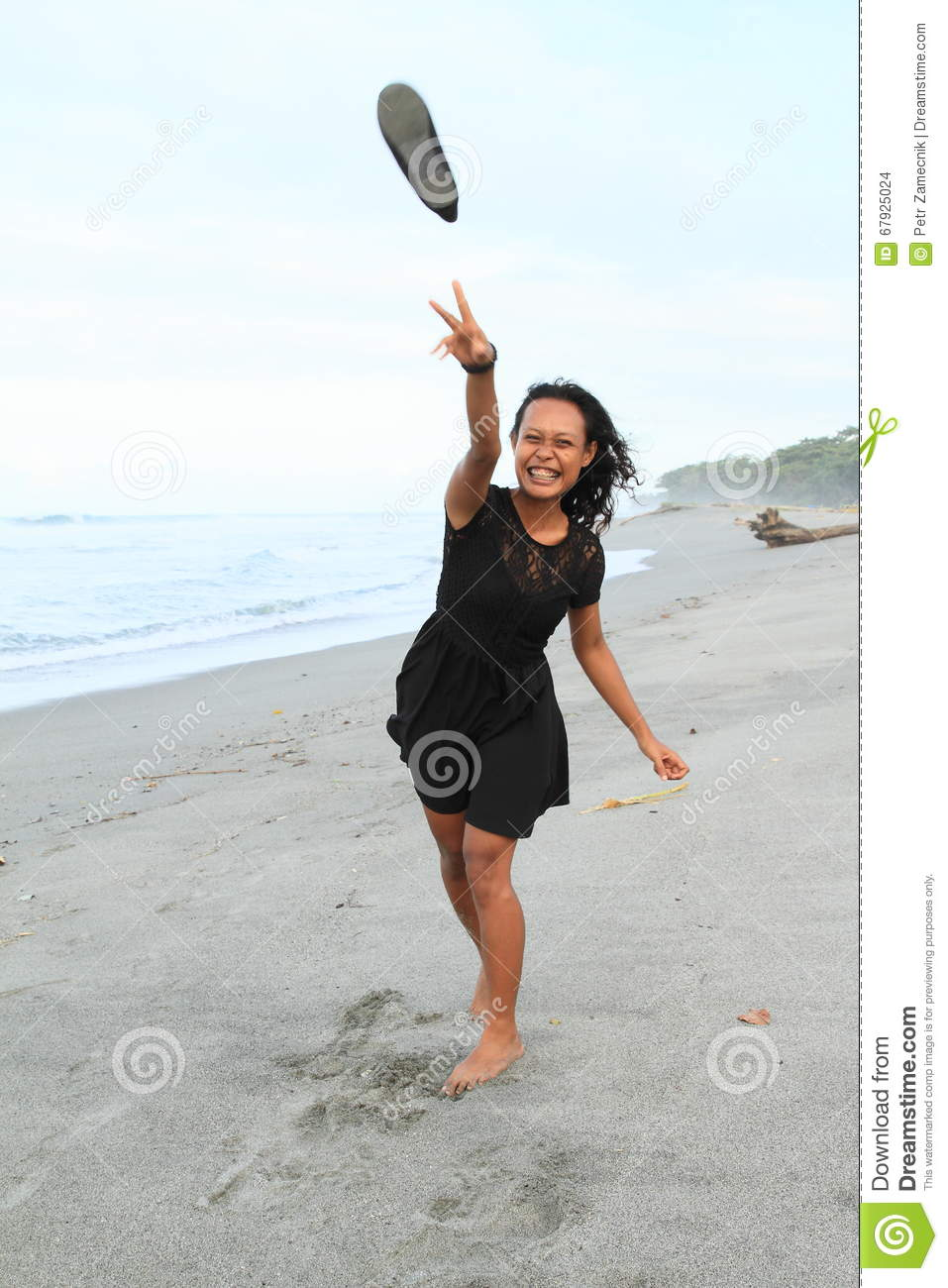 Papuan Girl Throwing A Shoe Stock Photo Image Of Throwing Bare
