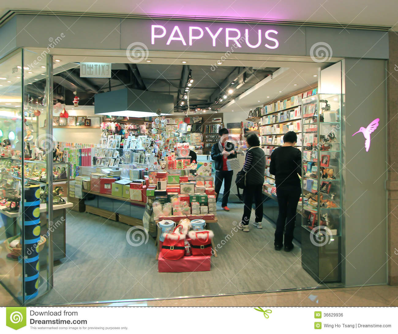 Hong Kong Shopping: Papyrus Shop In Hong Kong Editorial Photo. Image Of