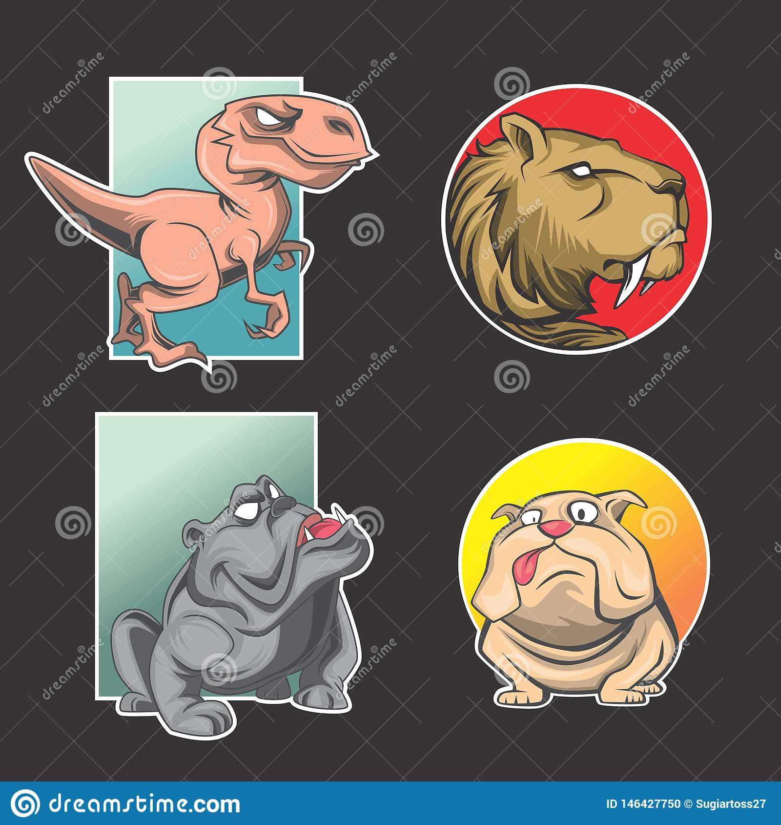Paquet animal de logo