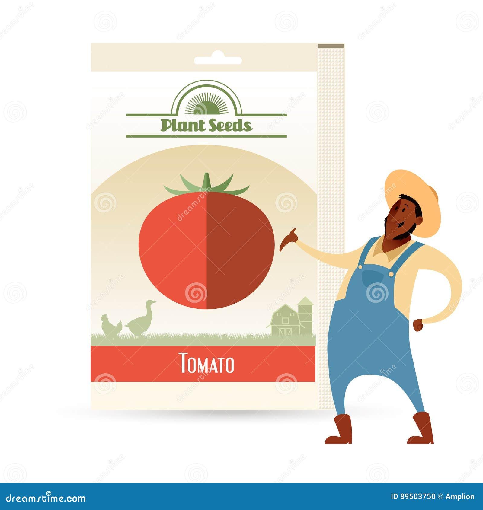 Paquet de graines de tomate