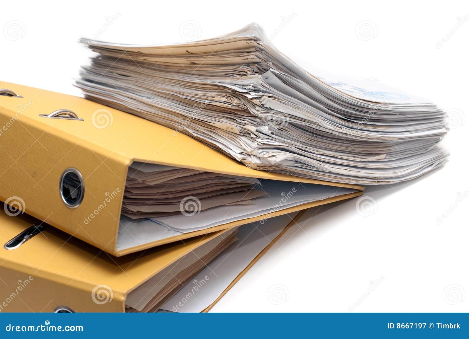 Paquet deux de dépliants de documents