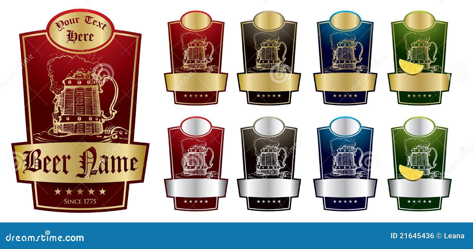 Paquet V2 d étiquettes de bière