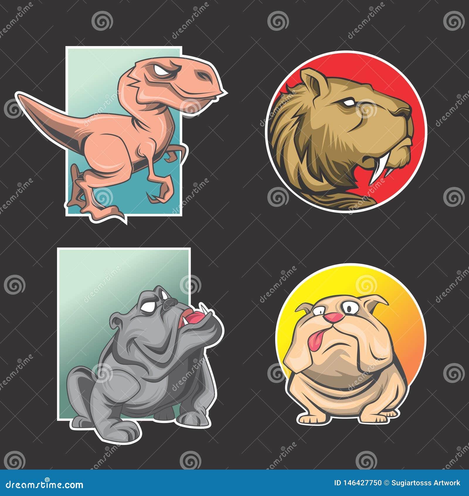 Paquete animal del logotipo