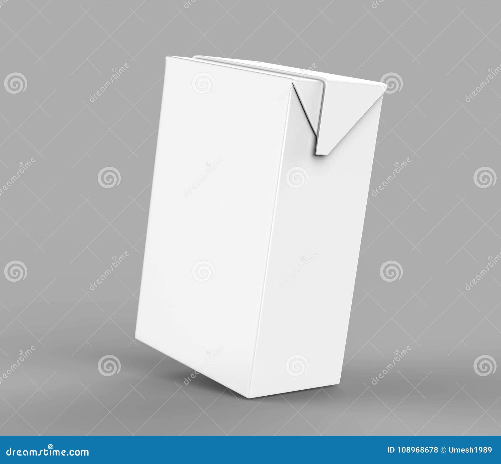 Paquete Blanco En Blanco Del Jugo Y De La Leche Del Cartón Del ...