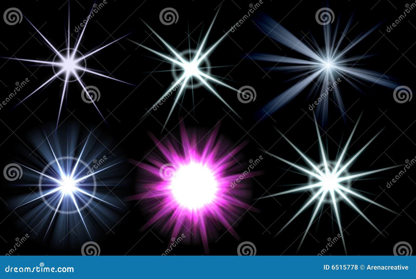 Paquete brillante de la explosión de la flama de la lente
