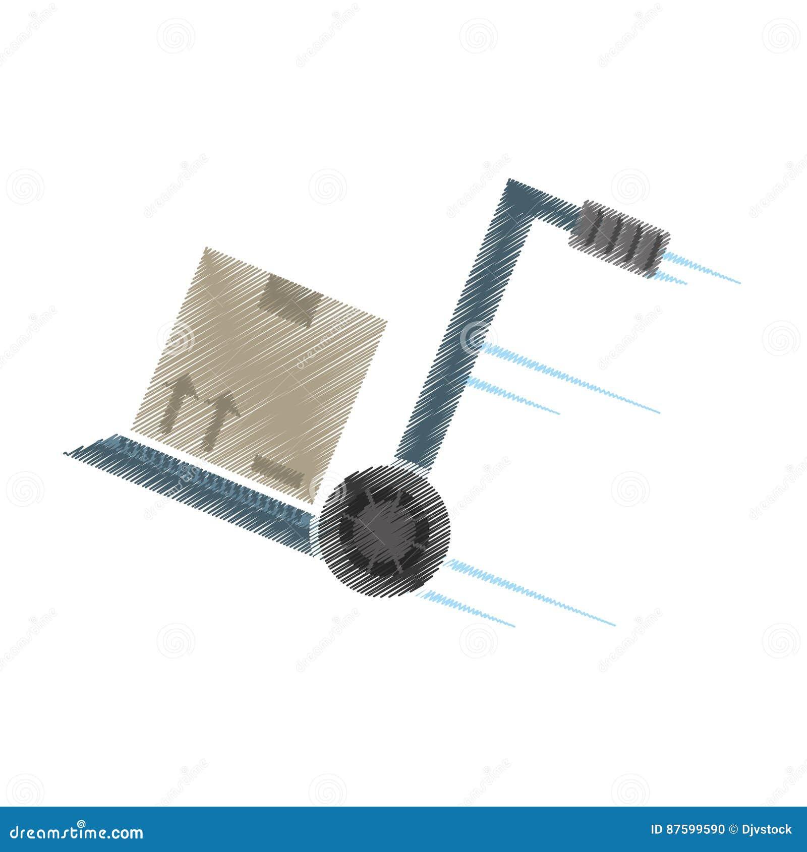Paquete de la entrega de la carretilla de mano del dibujo for Carretilla de mano segunda mano