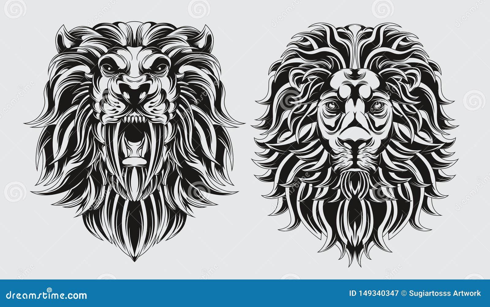 Paquete del balckline del león