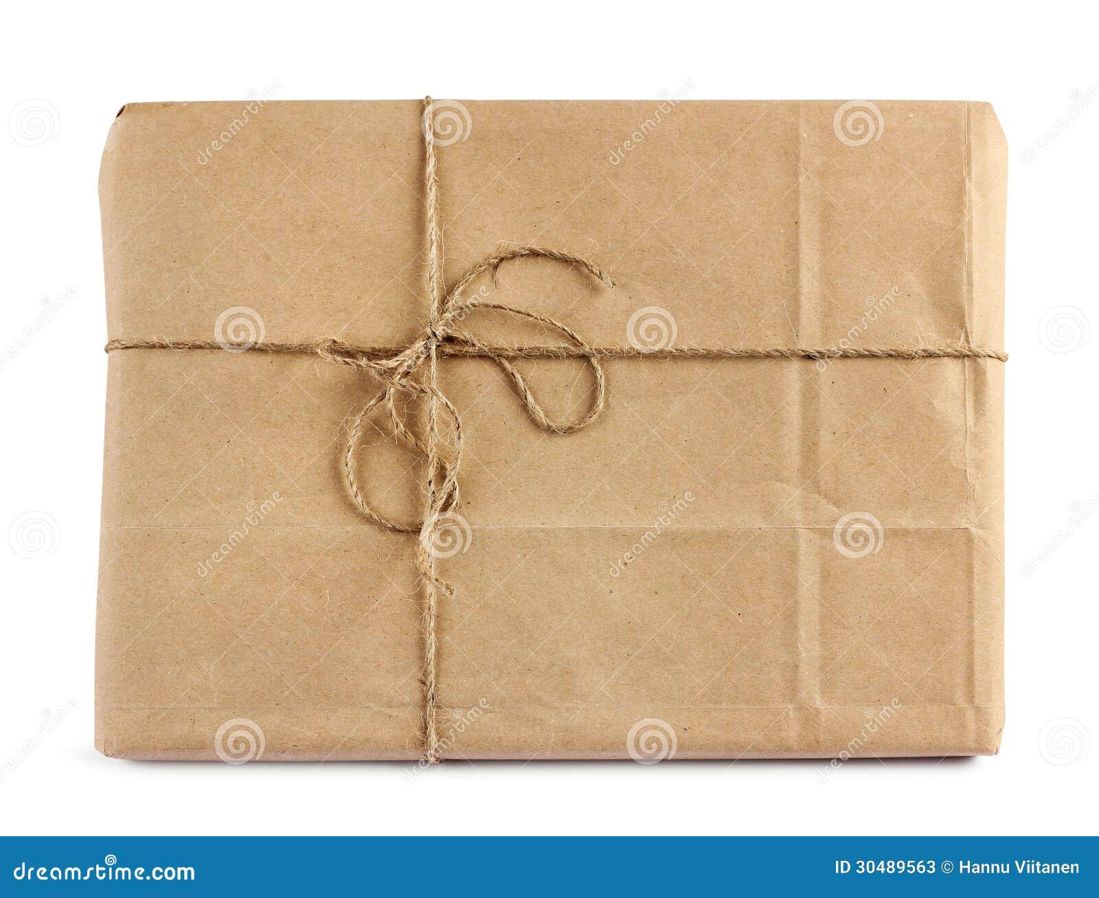 Paquete del reparto del correo de Brown