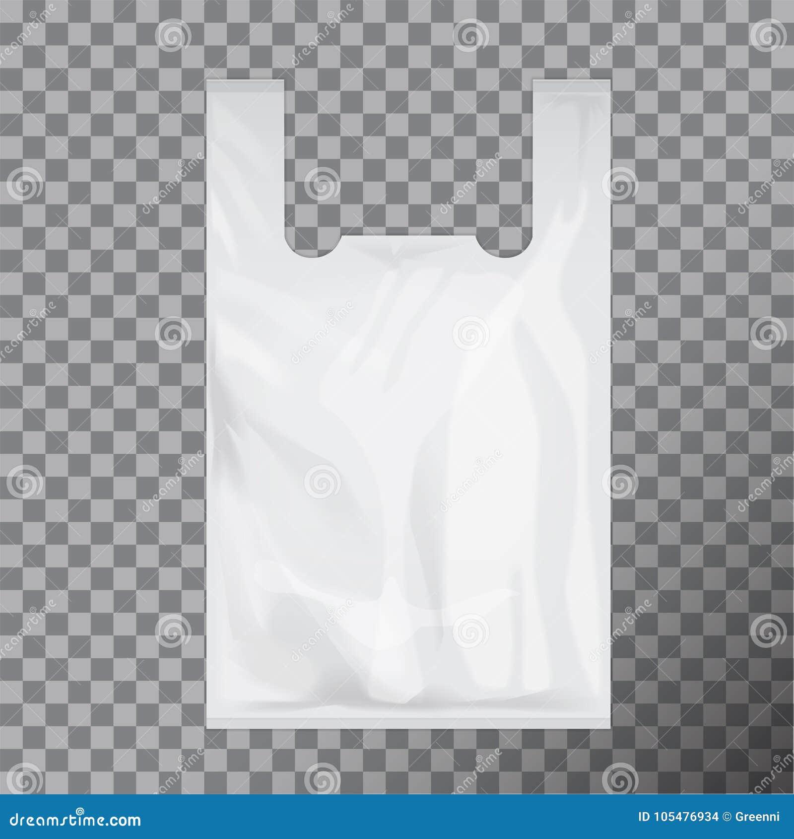 Paquete Bolsa La Blanco Plástico Camiseta Disponible De rvrqH0