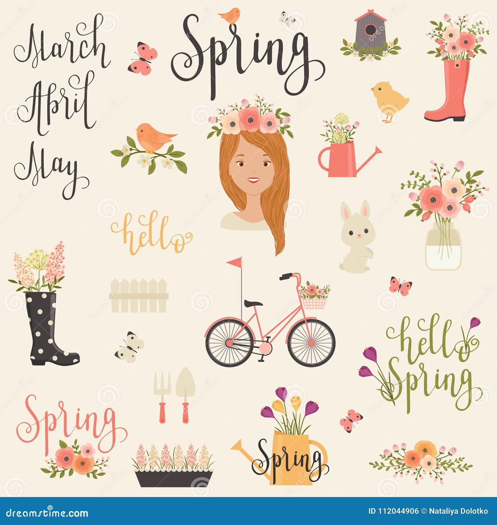 Paquete/sistema de iconos de la primavera