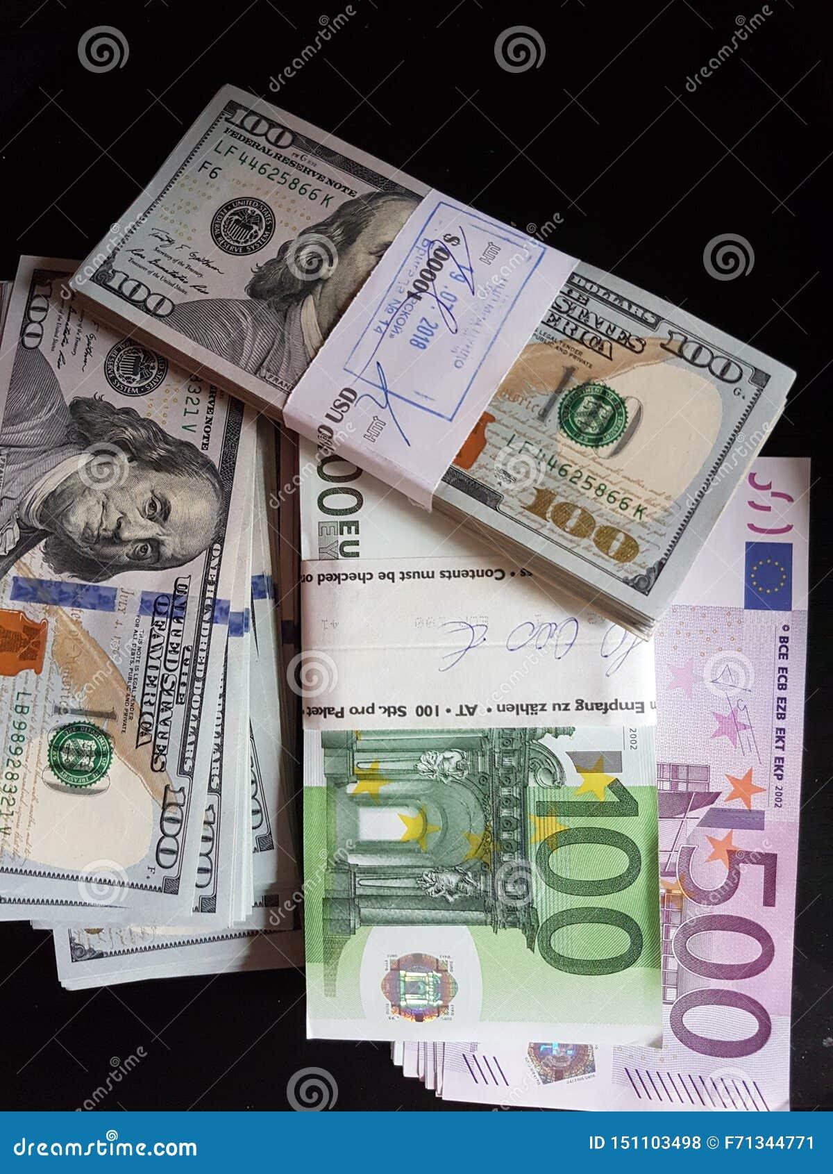 Paquetes de inversiones de los E.E.U.U. y del euro