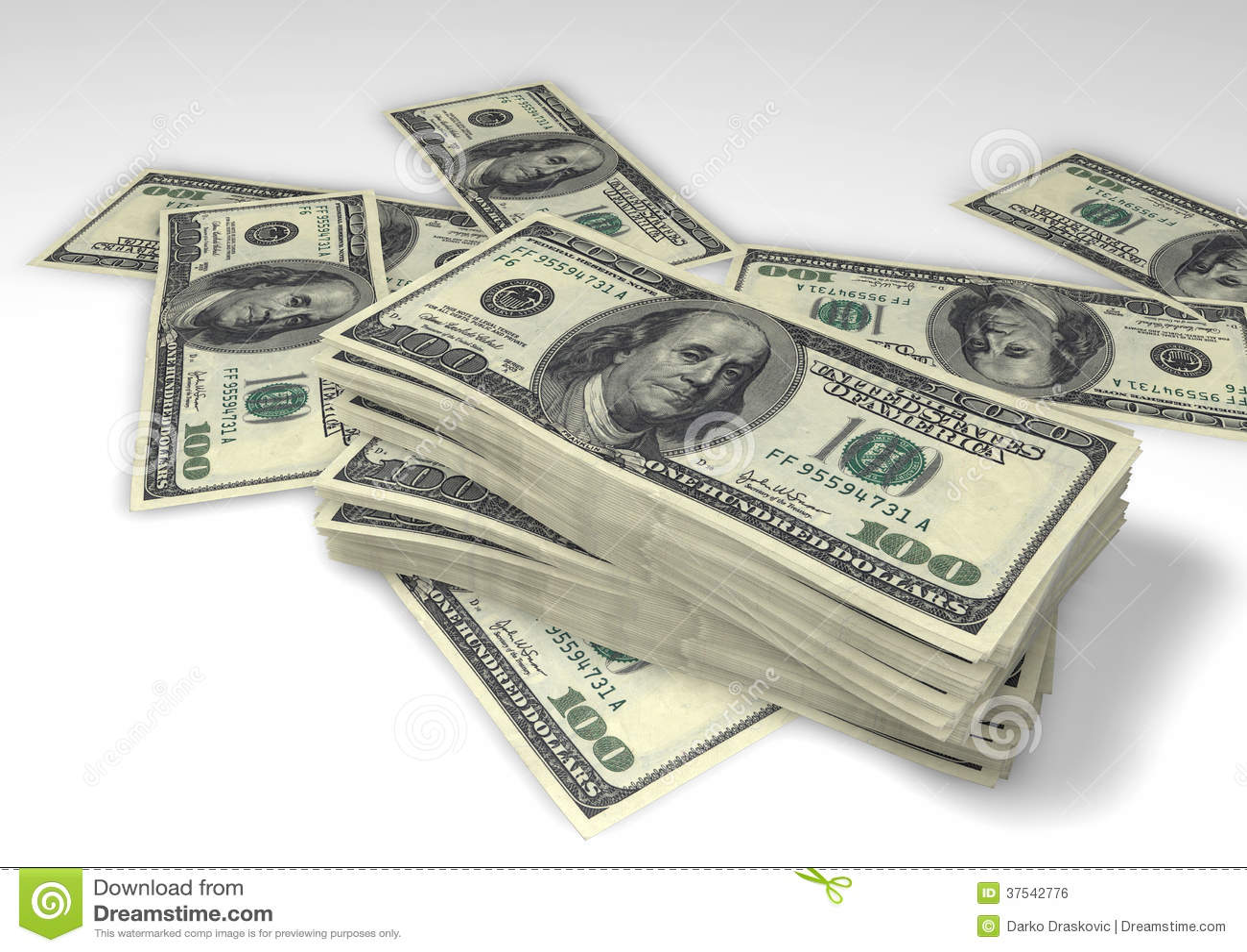 Paquets de dollars