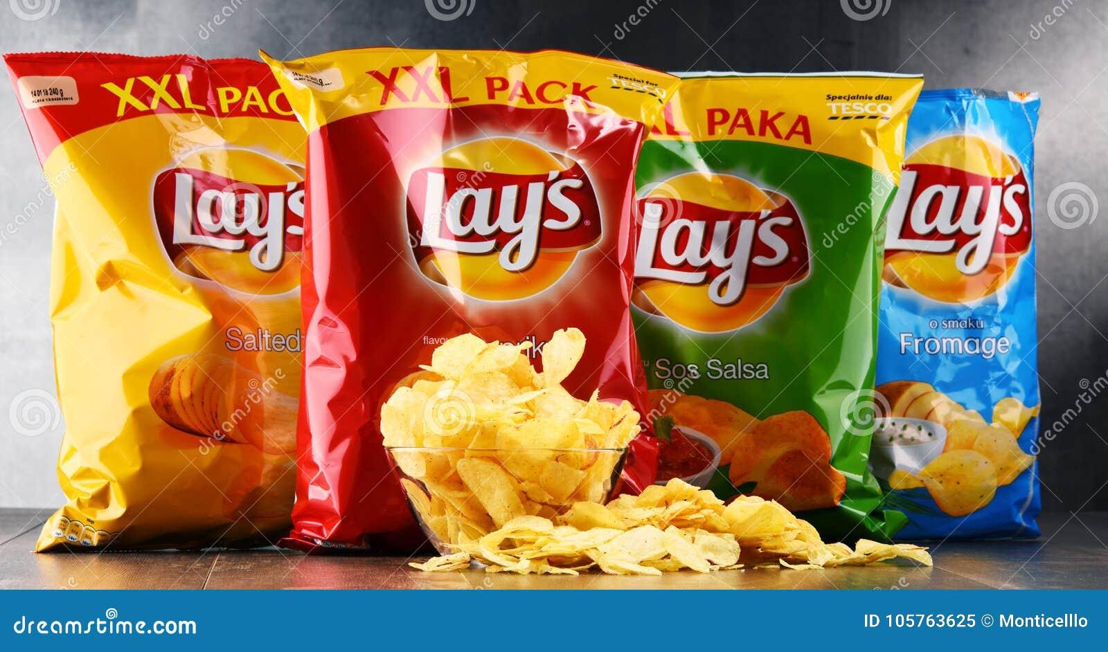 Paquets des pommes chips de configurations