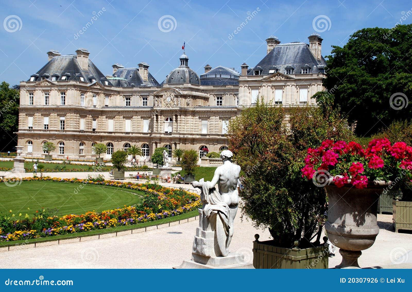 Par s francia palacio y jardines de luxemburgo foto for Jardines de luxemburgo paris