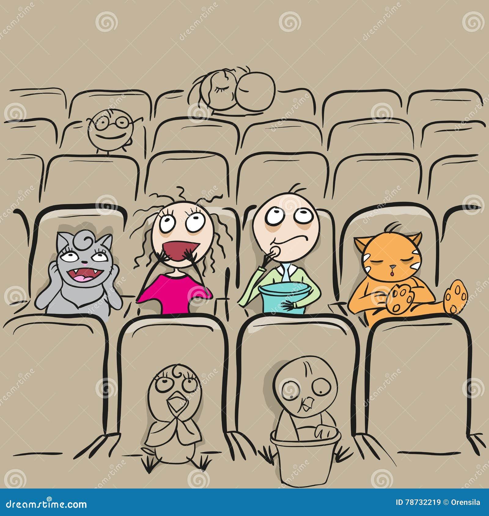 Par älskar i hållande ögonen på film för bioteater
