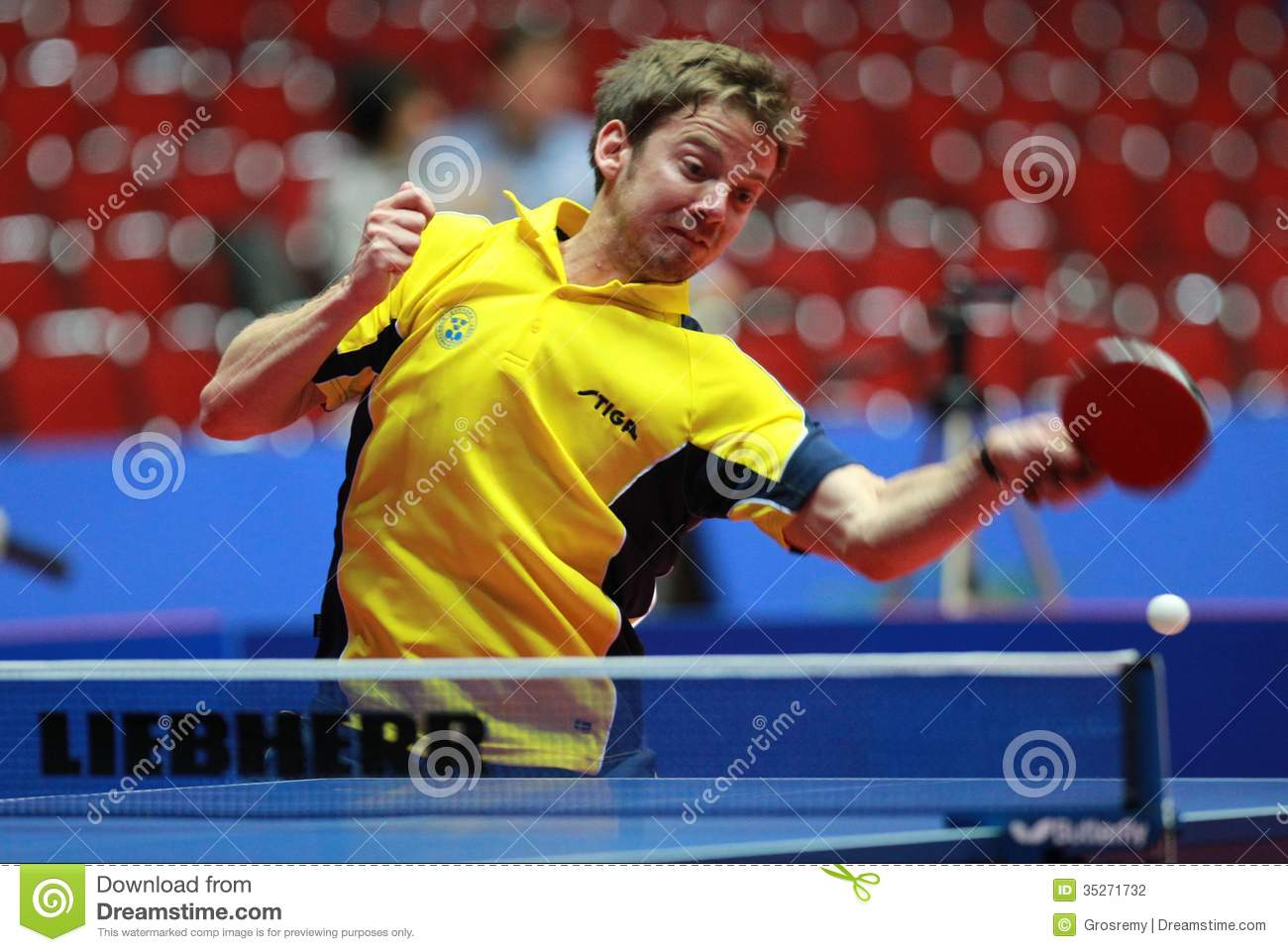 Par gerell swe editorial photography image 35271732 - World table tennis championships ...