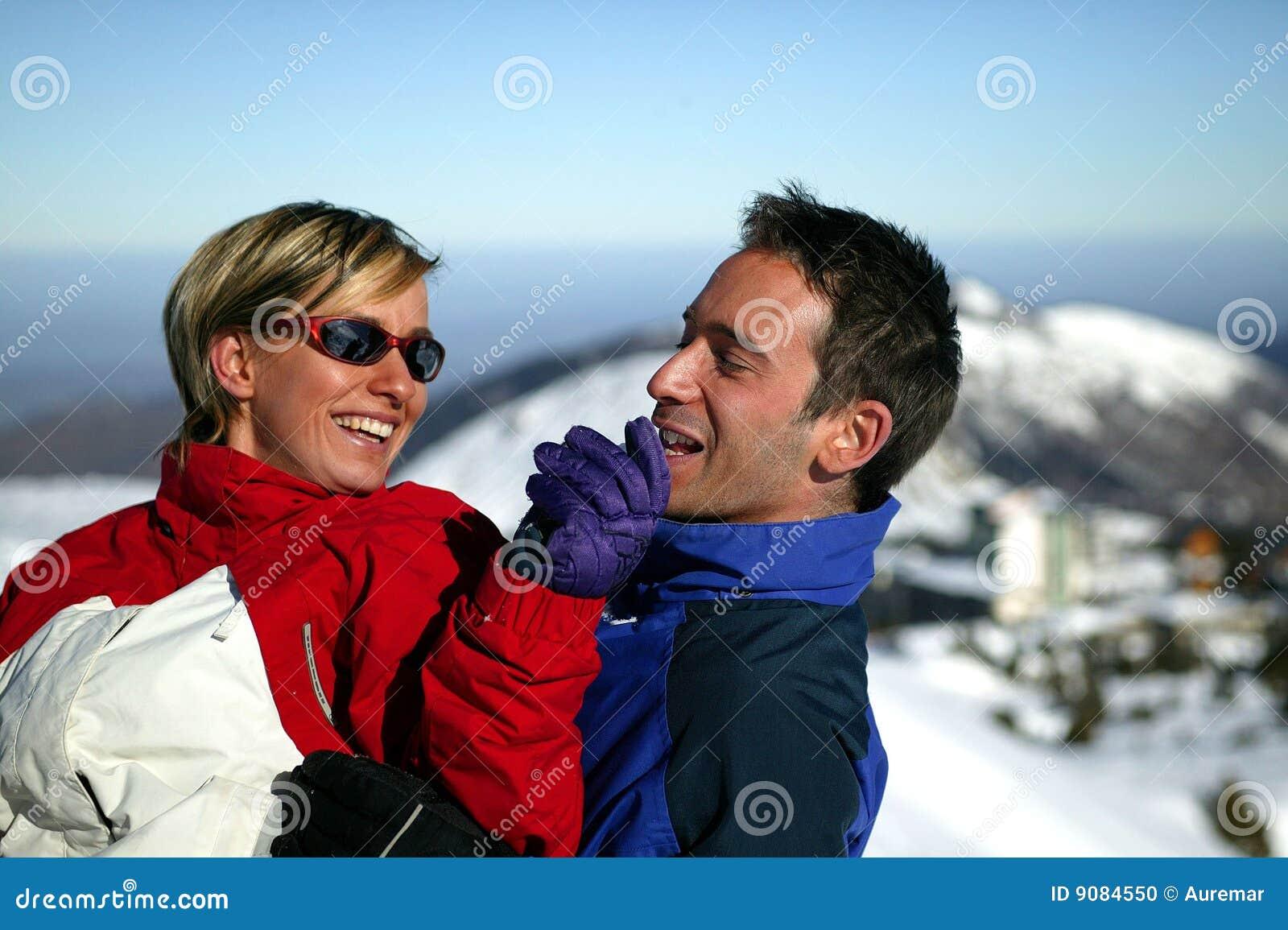 Par skidar semester