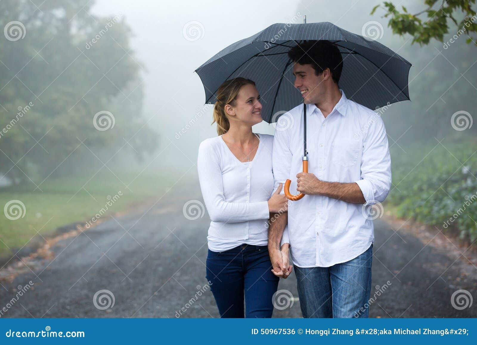 Par som går paraplyet