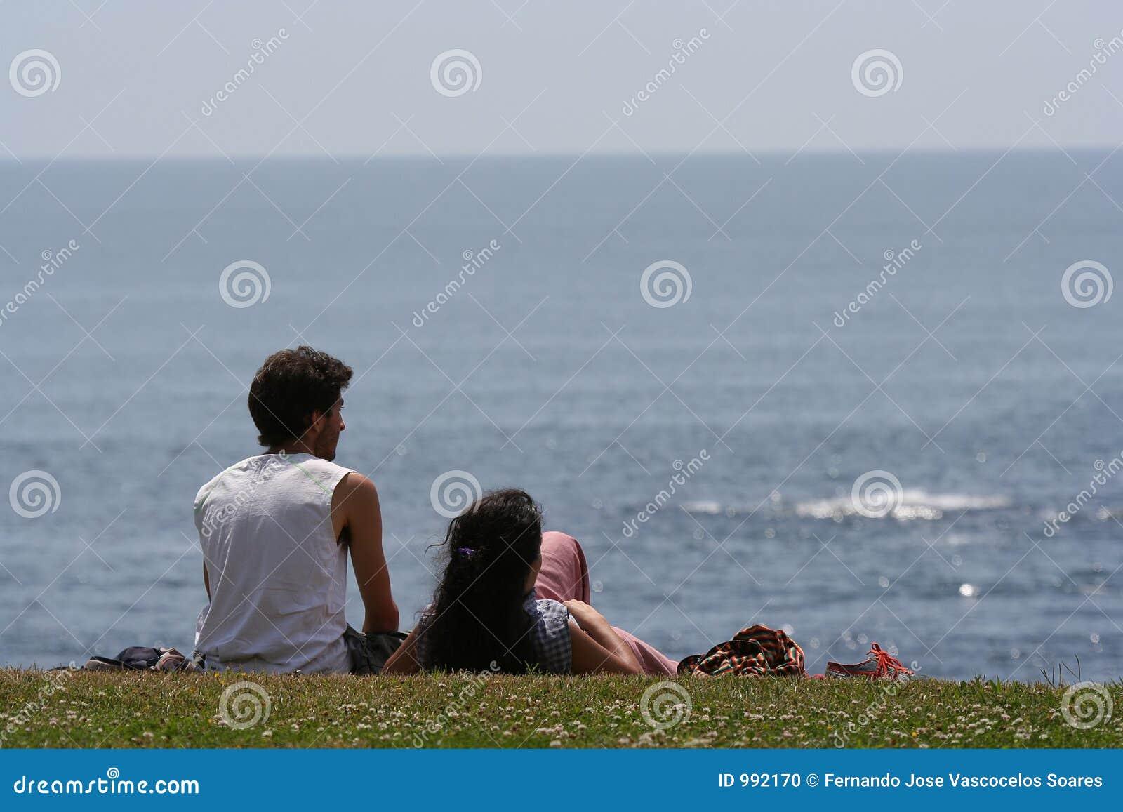 Par som ser havet