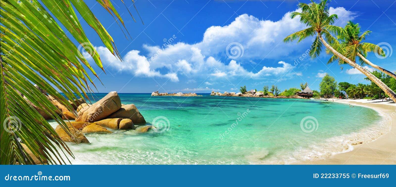 Paraíso isla-tropical de Seychelles