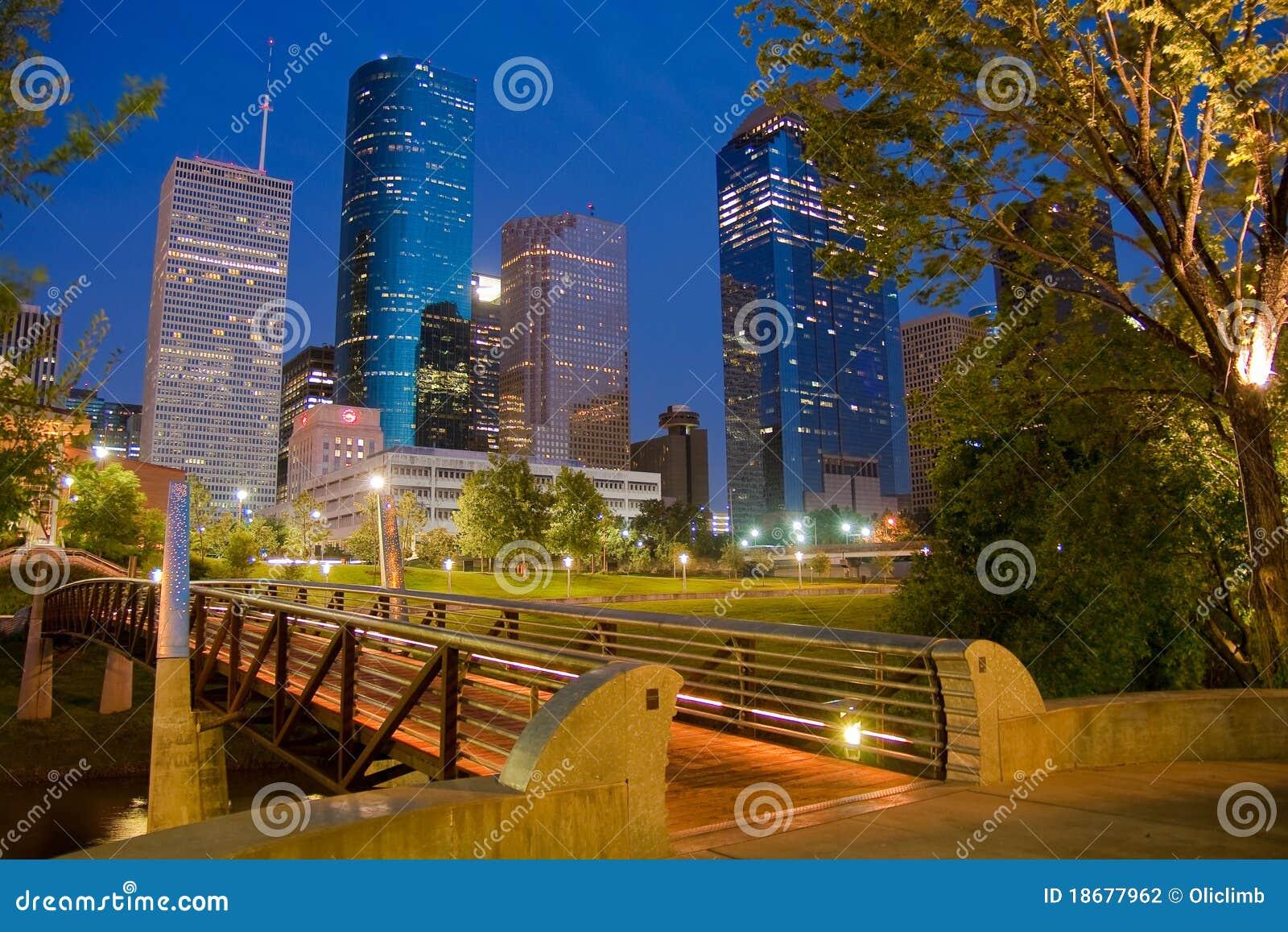 Para baixo cidade Houston
