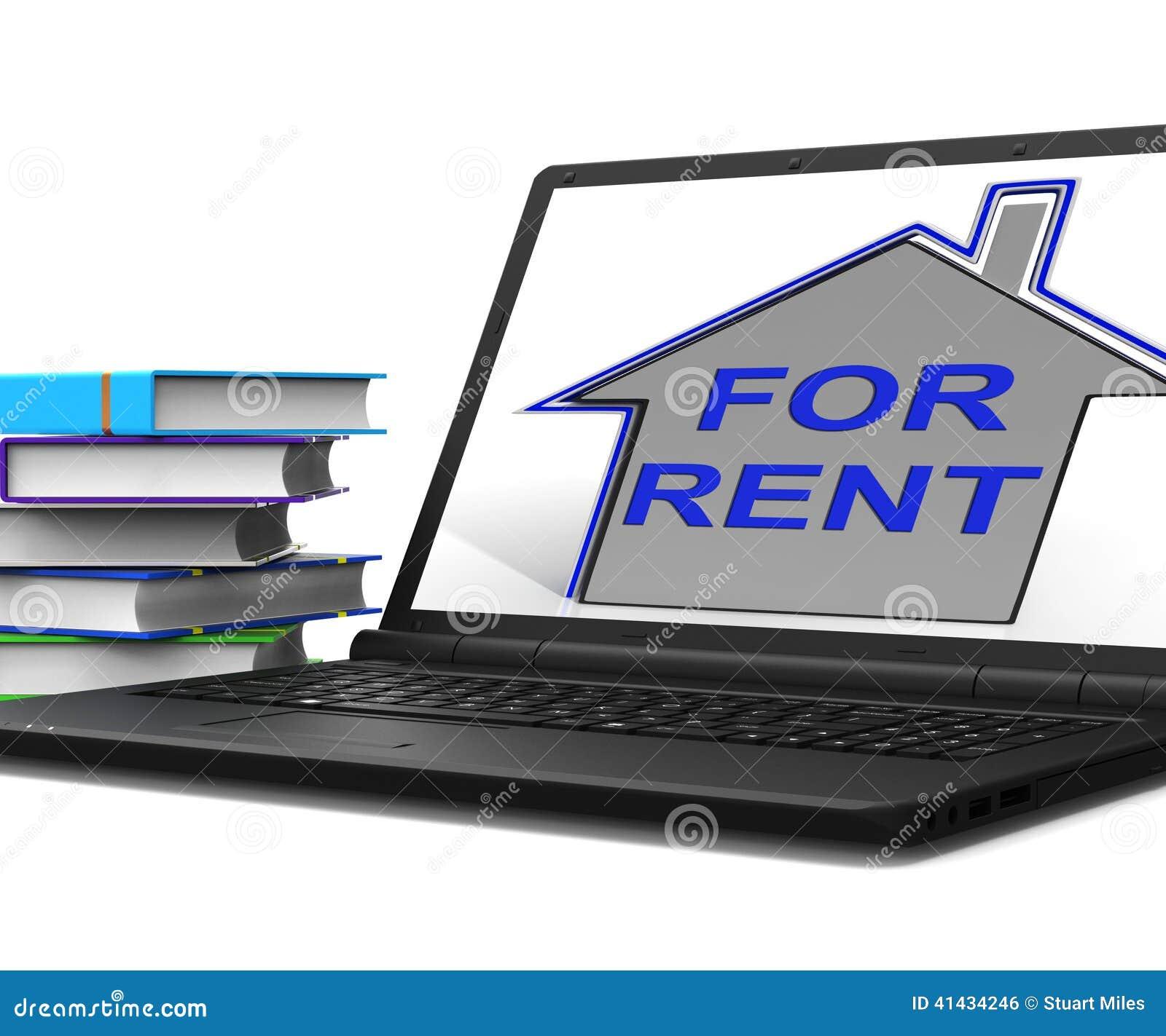 Para a casa de aluguel a tabuleta mostra o proprietário Leasing Property To Tennant
