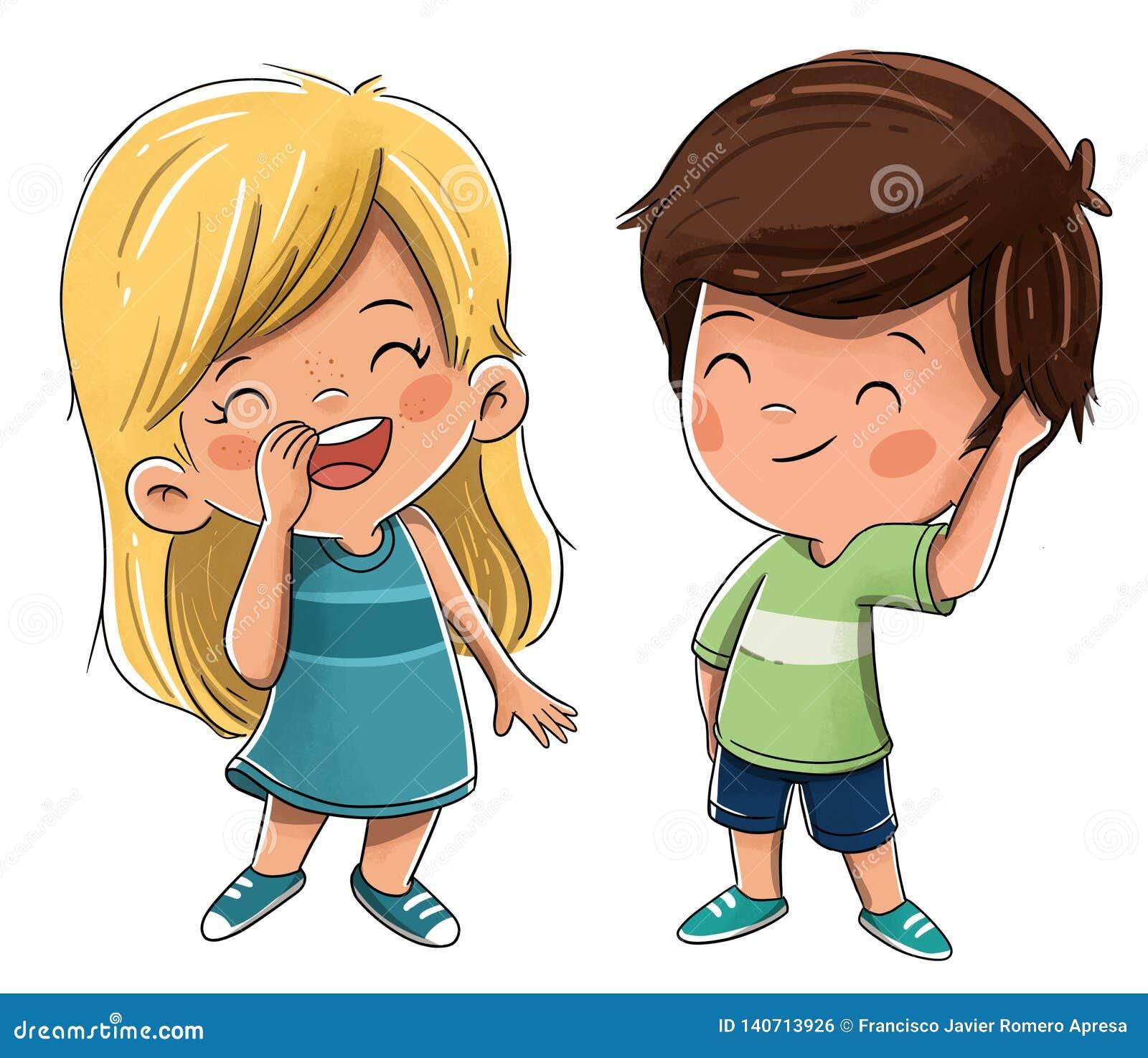 Para dziecko bracia lub przyjaciele