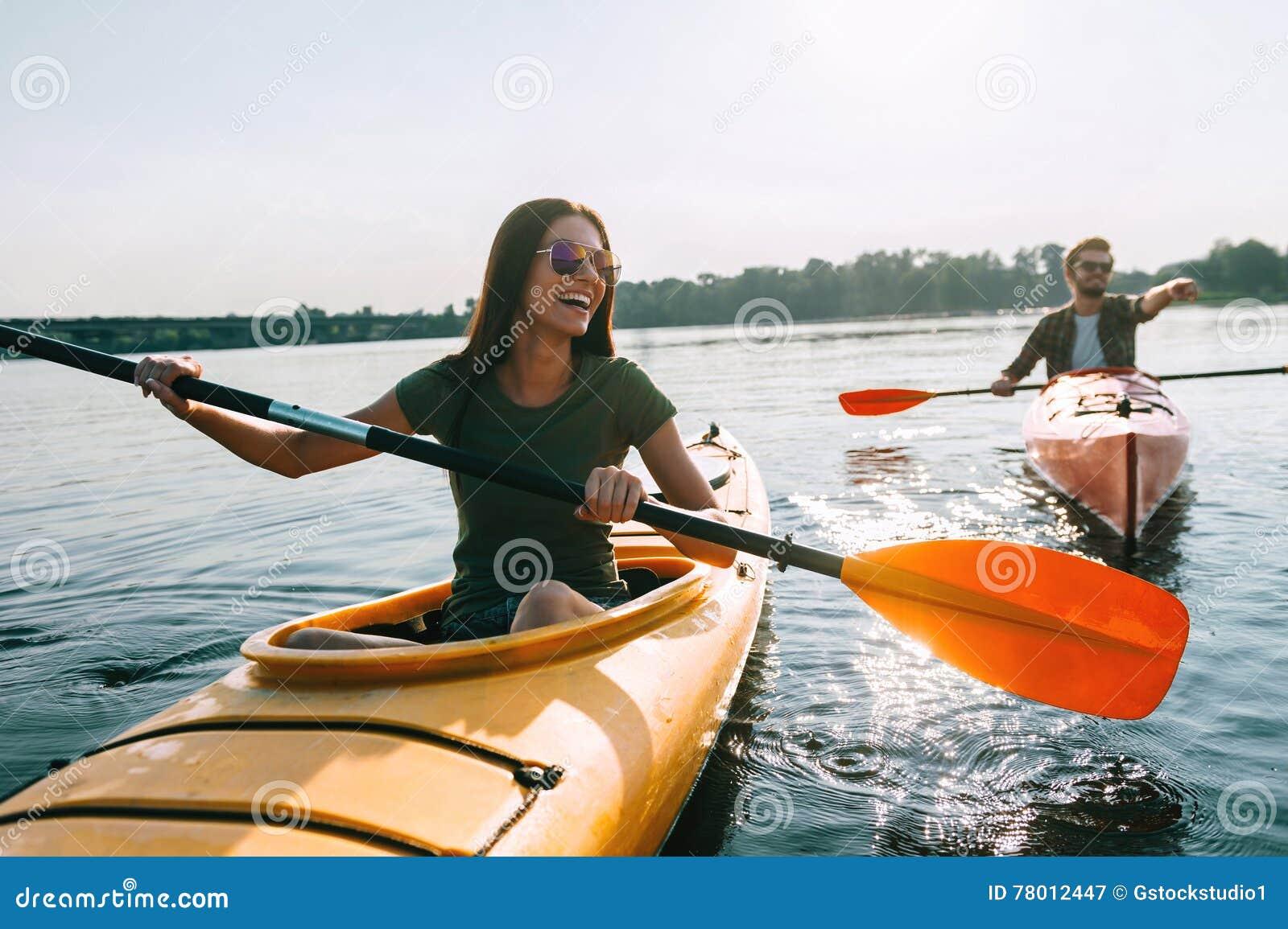 Para kayaking wpólnie